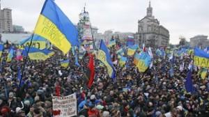 Majdan - główny plac Kijowa, luty 2014