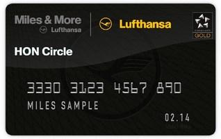 Miles & More Servicecard HON status of Lufthansa